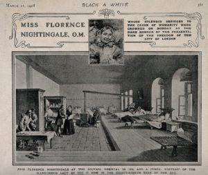 Florence Nightingale at Scutari Hospital, 1856