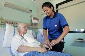 Nurse with Elderly Man