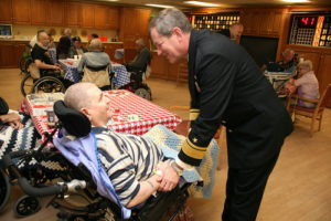 Navy Officer Visits Nursing Home in Phoenix during Navy Week